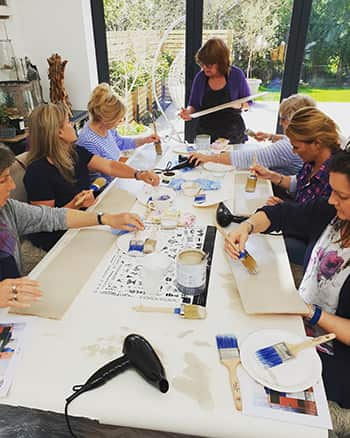 Our first Annie Sloan Workshop held at No64 Biscuit House HQ. Learn to paint with Annie Sloan paints & accessories.