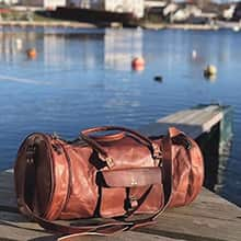 The fabulous brown leather Los Angeles bag by FUHR home of Denmark.