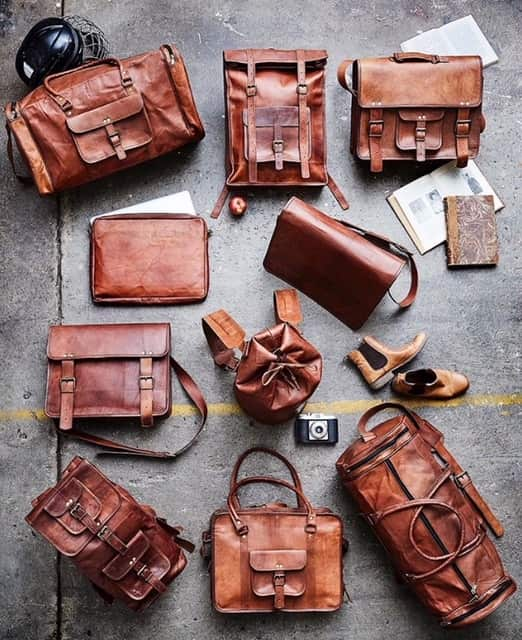 Sustainable leather bags, satchels, sports bags and backpacks by FUHR Home of Denmark.