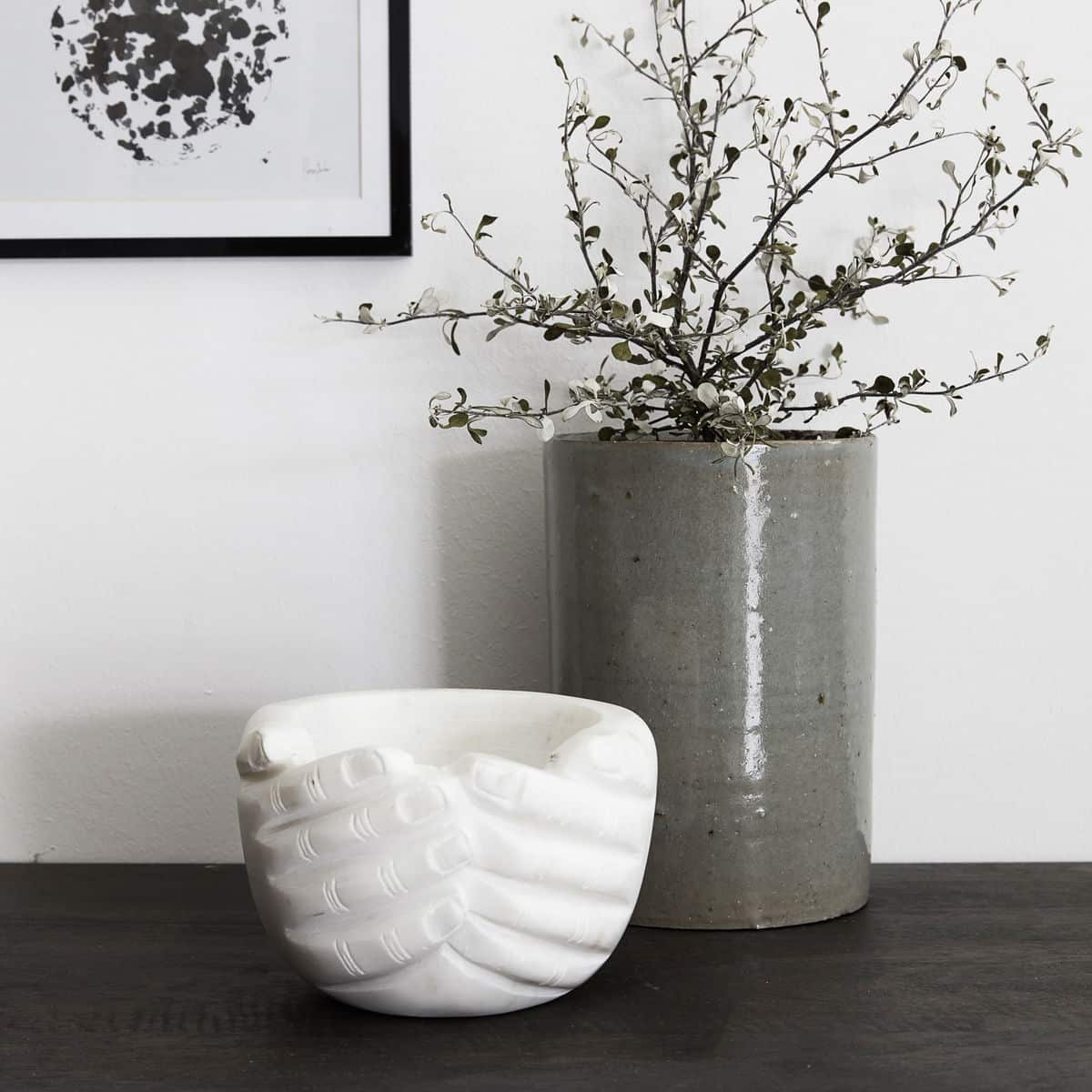 'Hands' Bowl, in White, made from Marble. By House Doctor of Denmark
