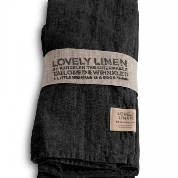 100% Linen Napkin, in Dark Grey, by Lovely Linen of Sweden