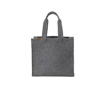 'Adria' Wool Tote Bag, with double handles, in Granite (Grey). By Shepherd of Sweden