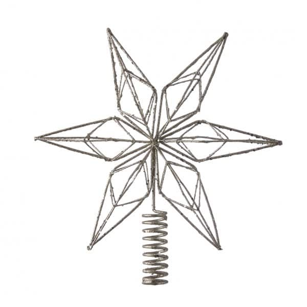 'Alivinne' Christmas Star, in Light Gold with Glitter, for the top of your tree! By Lene Bjerre of Denmark