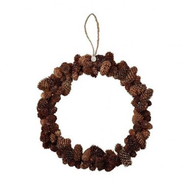 'Alvenor' Christmas Wreath made from natural Pine Cones. By Lene Bjerre of Denmark