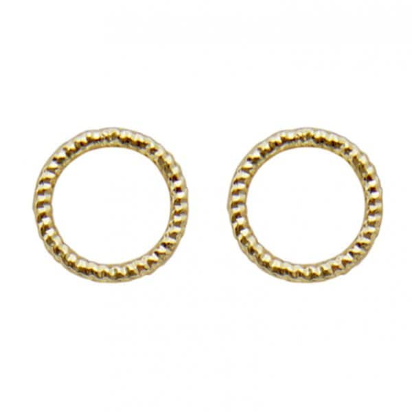 'Alyssa' Earrings in 14 carat Gold. By Dansk Copenhagen