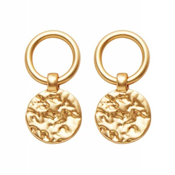 'Amber' simple Earrings finished with 14 carat Gold plating (colour on metal). By Dansk Copenhagen