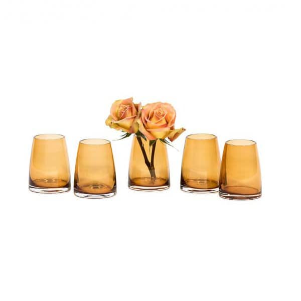 'Amber' Votive, made from mouth-blown Glass, beautifully presented in Amber. By Dekocandle of Belgium