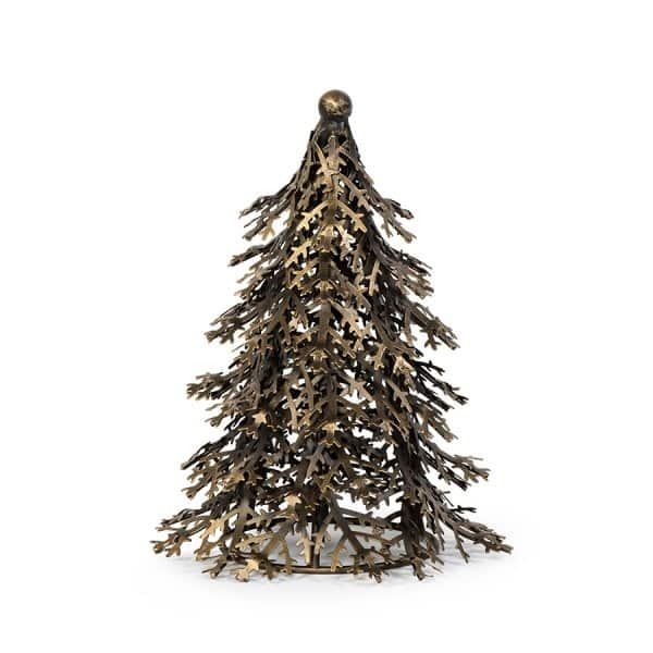 'Antique Green', beautifully Hand-crafted, Pine Tree, made from Iron. By Dekocandle of Belgium