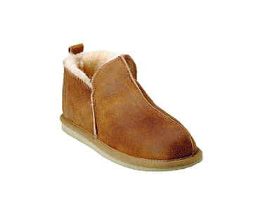 'Anton' 100% Sheepskin Slippers in Antique Cognac. By Shepherd of Sweden