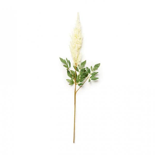 'Astilbe' faux flower, hand-made and hand-painted, and presented in Cream. By Abigail Ahern