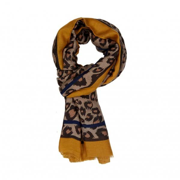 'Barbara Scarf Gold Spice', in various colours, made from Viscose. By Dansk Copenhagen