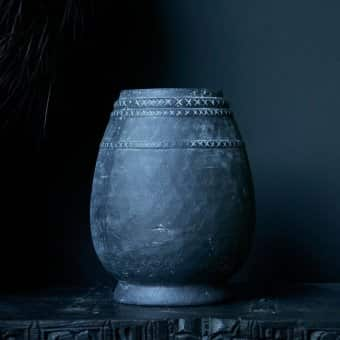 'Bengston' Vessel, Concrete, Grey (H:32cm x D:25.5cm, max)