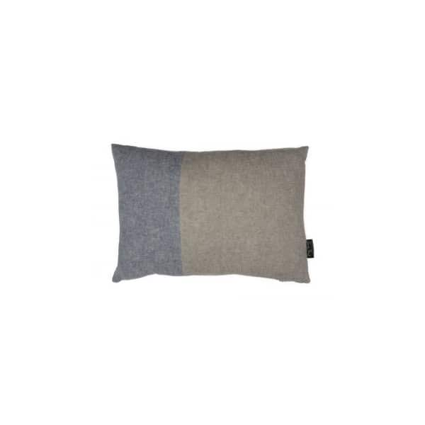 Berlin rectangular Cushion in Old Violet and French Linen. By Annie Sloan
