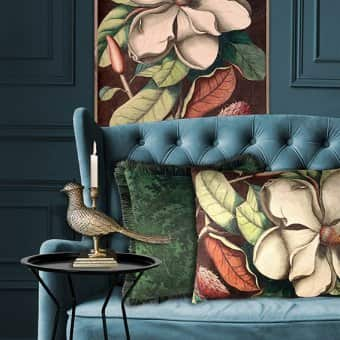 'Big White Magnolia' Cushion (50x70cm)