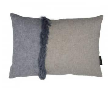 Bilbao rectangular Cushion in Old Violet and French Linen. By Annie Sloan