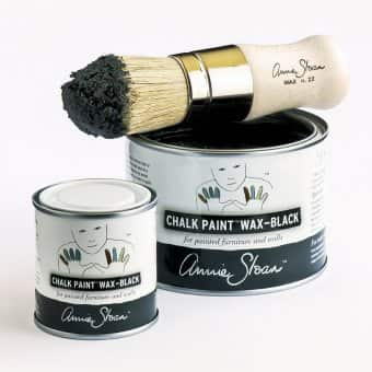 Black Wax Sample Pot & 500ml, and Wax Brush (small)