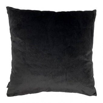 'Black Poppy' Velvet Cushion (50x50cm)