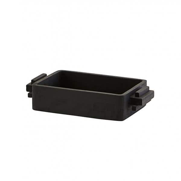 'Block' Tray, Rectangular, made from Mango Wood and finished in Black. By House Doctor