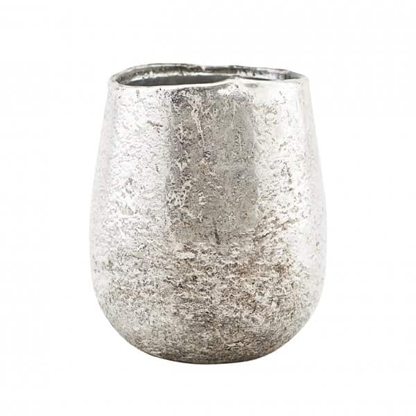 'Bright' Candle Votive, made from Glass, and finished in Silver. By House Doctor of Denmark
