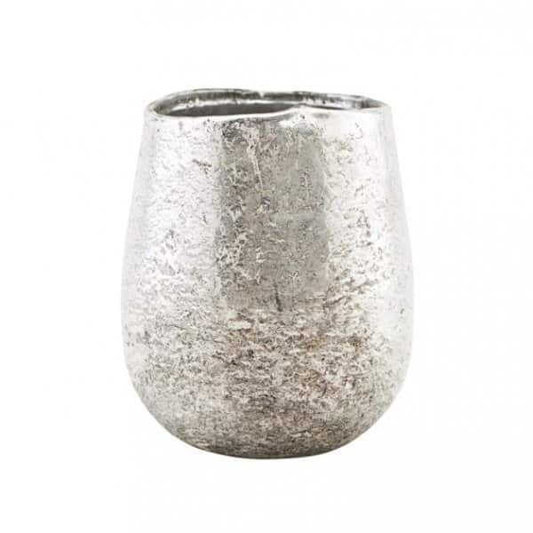 'Bright' Votive / Tea Light Holder, made from Glass, presented in Silver. By House Doctor
