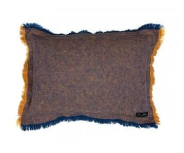 Budapest rectangular Cushion in Barcelona & Napoleonic Blue. By Annie Sloan