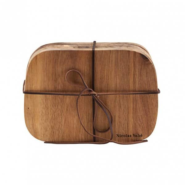 'Butter' Cutting Boards, set of 4, crafted from Acacia Wood and presented naturally. By Nicolas Vahé of Denmark