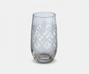 Celine High Ball Glass (S/4), made from Glass, and presented in Clear, with pattern. From The Vintage Garden Room