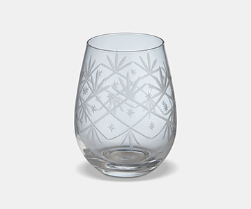 Celine Tumbler (S/4), made from Glass, and presented in Clear, with pattern. From The Vintage Garden Room