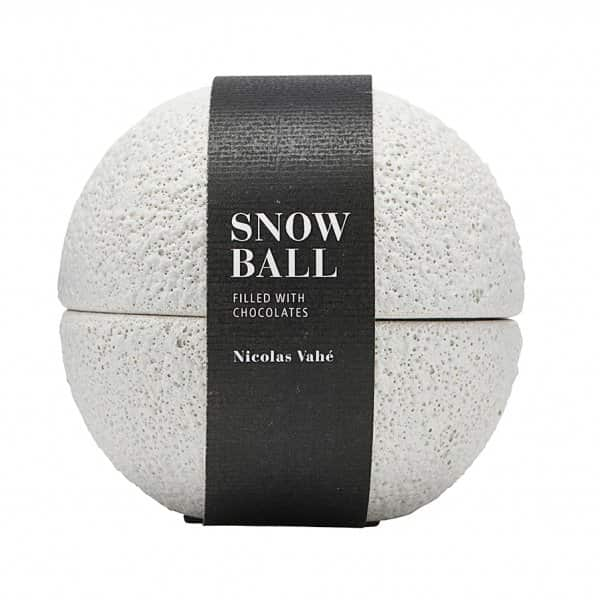 Ceramic Ball, beautifully presented, containing Marzipan Balls. By Nicolas Vahé of Denmark