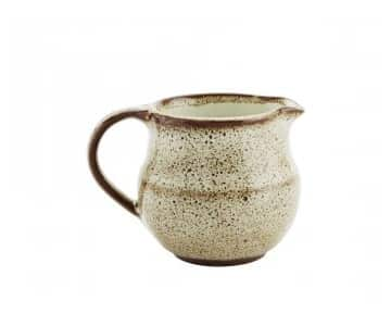 Ceramic Jug, Off-White/Brown. By Madam Stoltz