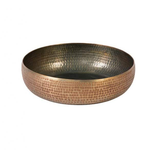 'Chatai' Bowl, made from Aluminium, finished in a stunning Chatai Texture in Copper (colour). By Dekocandle of Belgium.
