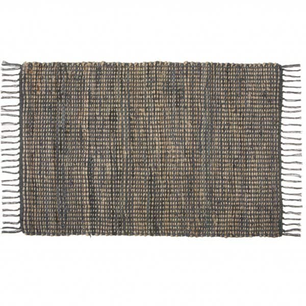 'Chennai' Rug made from Jute, Leather & Cotton, and handcrafted in India. By London Ornaments