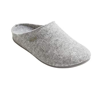 'Cilla' 100% Wool Slippers in Grey. By Shepherd of Sweden