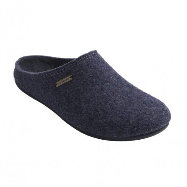 'Cilla' 100% Wool Slippers in Navy. By Shepherd of Sweden