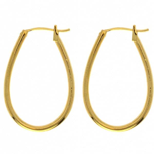 Classic 'Claire' oval hoop Gold Earrings, made from 18 carat gold-plated sterling silver. By Hultquist of Copenhagen