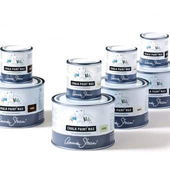 Annie Sloan Chalk Paint® Waxes: Clear, Dark, White, Black.