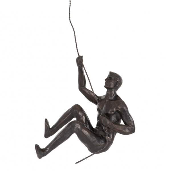 'Climbing Man' hanging ornament on a flexible wire cord. By London Ornaments.
