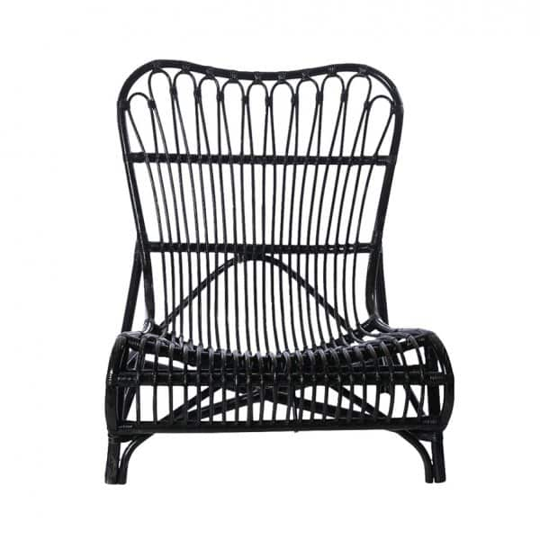 'Colone' Lounge Chair, made from braided Bamboo, and beautifully presented in Black. By House Doctor