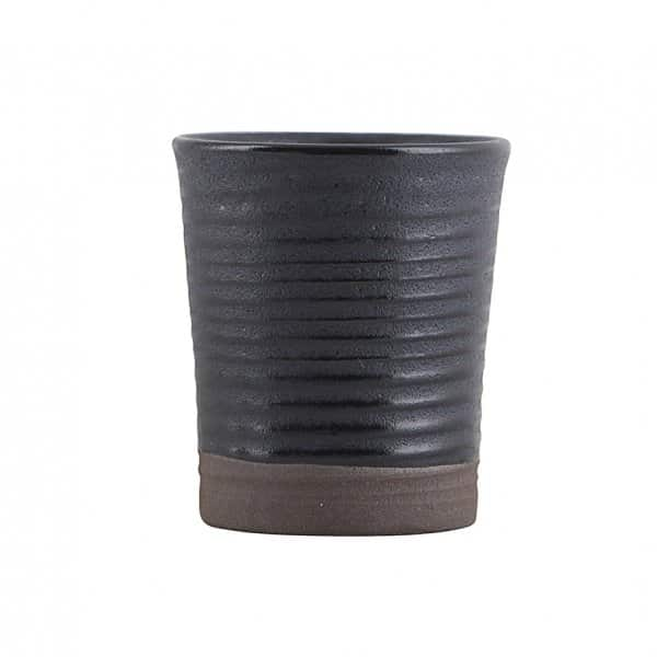 'Colour 11' Espresso Cup / Egg Cup, made from Stoneware, presented in Black/Blue. By House Doctor