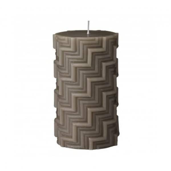 'Conira' pillar Candle in Moon Rock (colour). By Lene Bjerre of Denmark