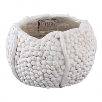 'Crumble' Pot / Vase, with a rustic bobble finish, made from Cement. By PTMD Collection®