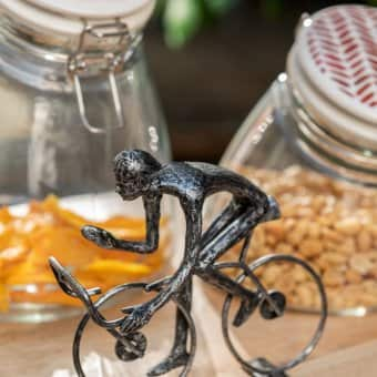 'Cyclist Abstract' ornament (assortment of 6), Iron (H:28cm x L:21cm x W:14cm)