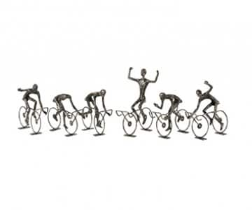 'Cyclist Abstract' ornament (assortment of 6), beautifully crafted from Iron, simply stunning. From J-Line by JOLIPA