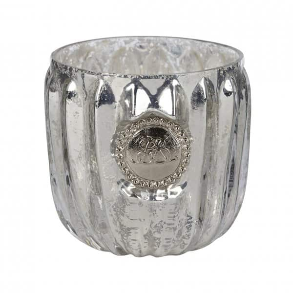 'Dante' Candle Votive in Antique Silver / Silver Glass. By Lene Bjerre of Denmark