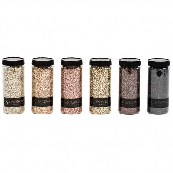 Decorative Gravel, presented in 4 different colours & 2 different Gravel sizes - for nestling your favourite candle(s) into! By Dekocandle