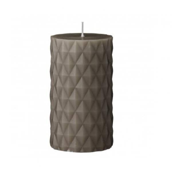 'Diamond' pillar Candle in Moon Rock (colour). By Lene Bjerre of Denmark