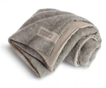 Double Blanket made from high quality Wool (outside) & finely woven Linen (inside), in Grey. By Lovely Linen