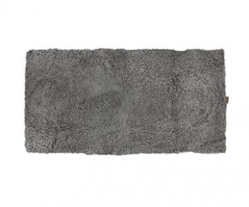 'Ebba' - 100% Short-Haired Sheepskin Rug in colour: Grey Graphite. By Shepherd of Sweden.
