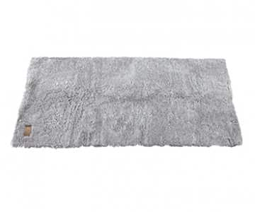 'Ebba' - 100% Short-Haired Sheepskin Rug in Granite (colour). By Shepherd of Sweden