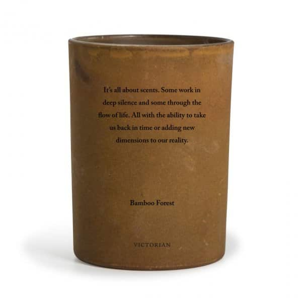 Elegant 'Royaux' 100% Soy Wax scented candle in a Brown coated glass pot. ByON of Sweden.
